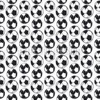 Bola de Futebol Grunge Design de padrão vetorial sem costura