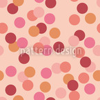 Confetti Red Seamless Vector Pattern
