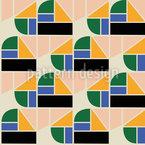 Disposition de différentes formes Motif Vectoriel Sans Couture