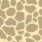 Pontos abstratos de girafa Design de padrão vetorial sem costura