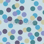 Konfetti Blue Seamless Vector Pattern Design
