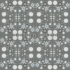 Stylized Flower Composition Seamless Vector Pattern Design