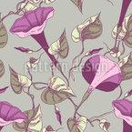 Aufsteigende Blumen Und Blätter Nahtloses Vektormuster