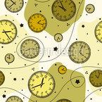 Retro Uhren Nahtloses Vektormuster