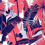 Variação da planta tropical Design de padrão vetorial sem costura