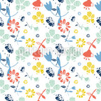 Abstrakte Fantasie-Blumen Nahtloses Vektormuster