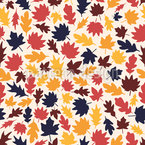 Foliage In Fall Seamless Vector Pattern Design
