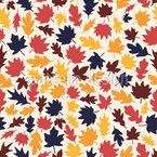 Листва осенью Бесшовный дизайн векторных узоров