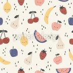 Süße Cartoon-Früchte Nahtloses Vektormuster