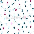 Sopa de Alfabeto Design de padrão vetorial sem costura