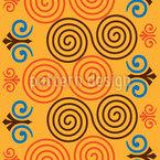 Double Spiral Seamless Vector Pattern Design