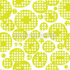 Squares In Blobs Seamless Vector Pattern Design