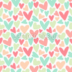 Soft Love Doodle Seamless Vector Pattern Design