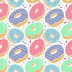 Пончик Бесшовный дизайн векторных узоров