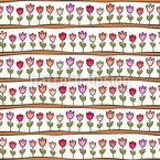 Tulpen In Den Beeten Nahtloses Vektormuster