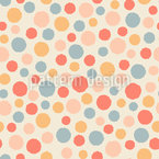 Loose Deformed Dots Seamless Vector Pattern Design