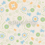 Tenderly Flower Seamless Vector Pattern Design