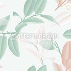 Lime Blossoms And Leaves Seamless Vector Pattern Design