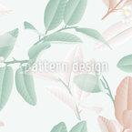 Limettenblüten Und Blätter Nahtloses Vektormuster