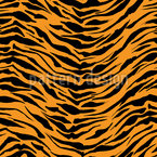 Classic Tiger Seamless Vector Pattern Design