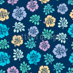 Hawaiian Hibiscus Repeating Pattern