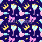 For The Little Princess Seamless Vector Pattern Design