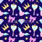Für Die Kleine Prinzessin Nahtloses Vektormuster