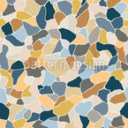 Terrazzo Mosaic Tile Seamless Vector Pattern Design