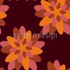 Stilisierte Sternblumen Nahtloses Vektormuster