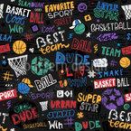 Basketball Nahtloses Vektormuster