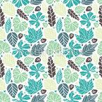 Folhas E Triângulos Design de padrão vetorial sem costura