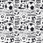 Football Love Design de padrão vetorial sem costura
