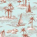 Ilha do Deserto Design de padrão vetorial sem costura