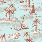 Einsame Inseln Nahtloses Vektormuster