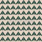 Fleur Abstrait Zigzag Motif Vectoriel Sans Couture