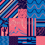 Modern Abstract Tiles Vector Design