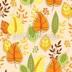 Aufsteigende Herbstblätter Nahtloses Vektormuster