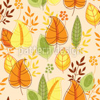 Rising Autumn Leaves Seamless Vector Pattern Design