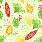 Augsteigende Frühlingsblätter Nahtloses Vektormuster