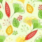 Rising Spring Leaves Seamless Vector Pattern Design