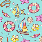 At The Beach Seamless Vector Pattern Design