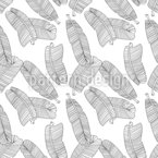 Delicate Banana Leaves Seamless Vector Pattern Design