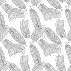 Zarte Bananenblätter Nahtloses Vektormuster