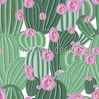 Kaktusblüten Impression Nahtloses Vektormuster