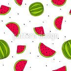 Schwebende Wassermelonen Nahtloses Vektormuster