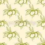 Oliven Und Blätter Vektor Ornament