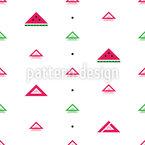 Wassermelonen-Geometrie Nahtloses Vektormuster