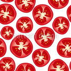Tomato Slices Seamless Vector Pattern Design
