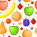 Variation de fruits colorés Motif Vectoriel Sans Couture