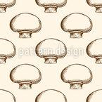 Champignon Vintage Design de padrão vetorial sem costura